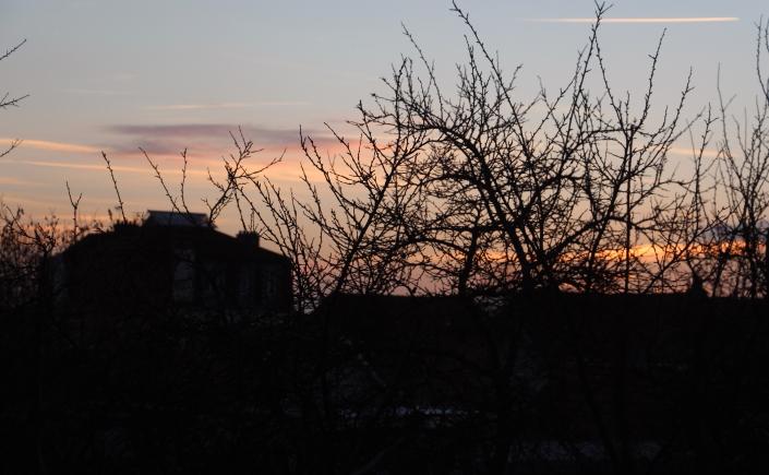 Pôr-do-sol da minha janela